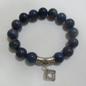 Silpada 925 Blue Lapis stretch bracelet